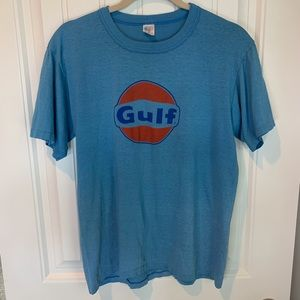 Vintage Gulf single stitch graphic tee size large